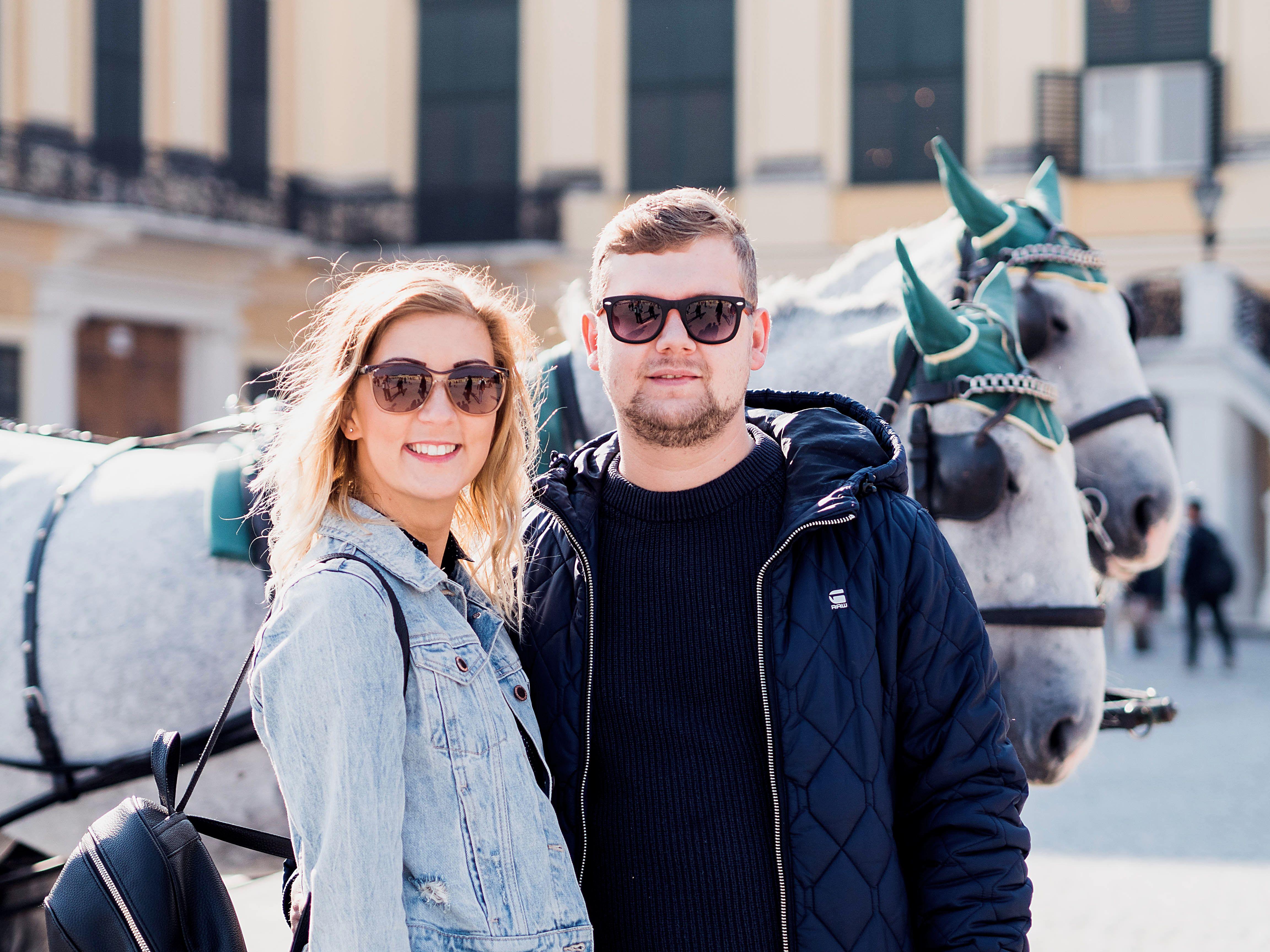 Vienna Vacation Couple Photo Vienna