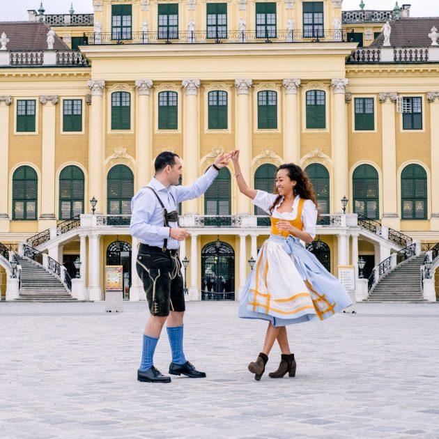 Vienna Engagement Couple Pictures Schönbrunn by Virág Horváth