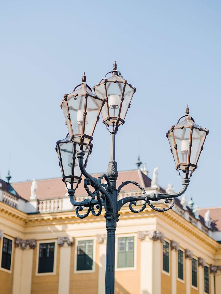 Schönbrunn Palace old lamp Vienna