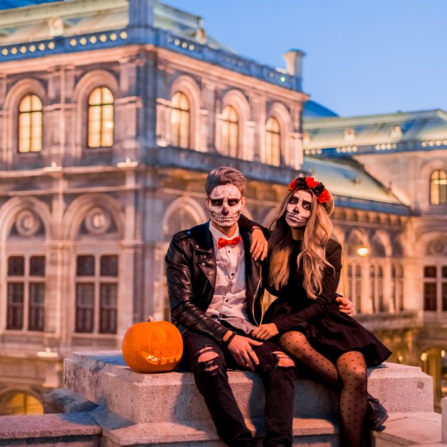 Halloween shooting in Vienna Opera Albertina Platz