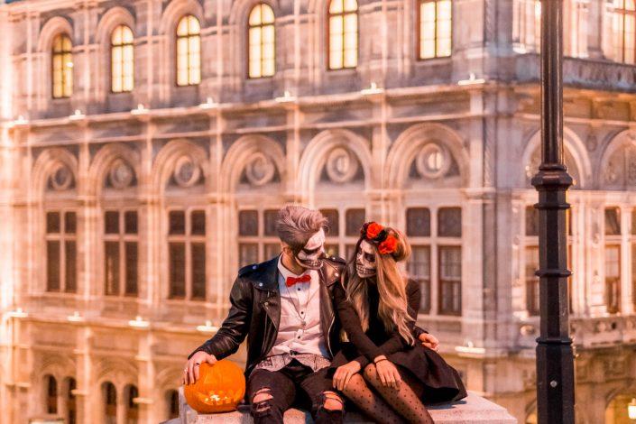 Halloween shooting in Vienna Opera Albertina Platz