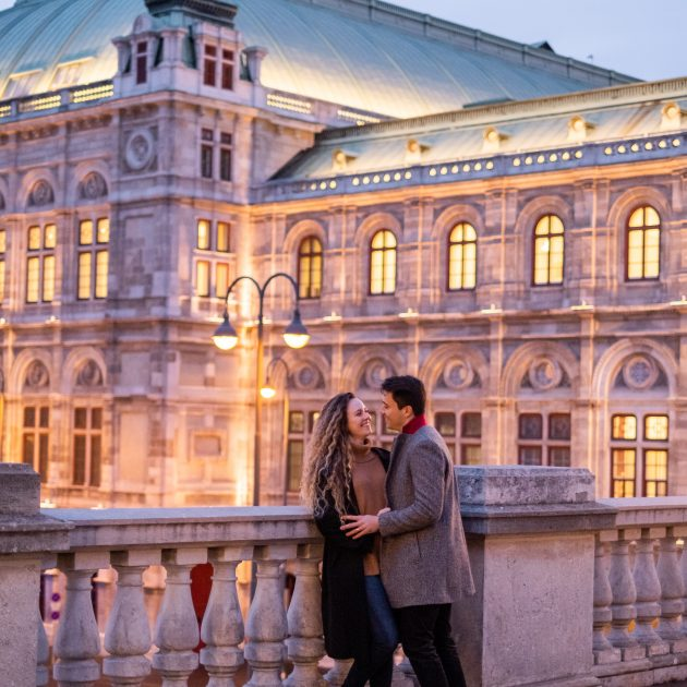 Vienna Evening Opera Vacation Couple Photographer