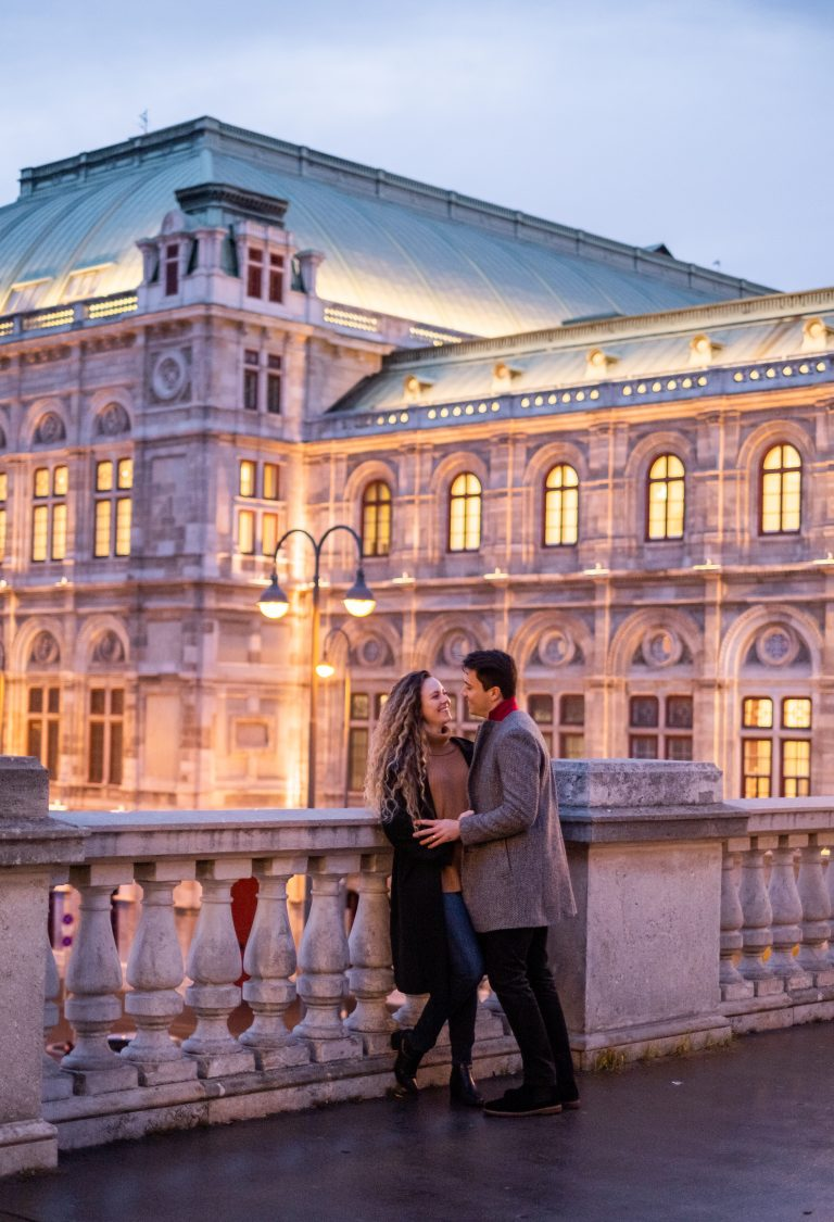 Vienna Evening Opera Vacation Couple Photographer